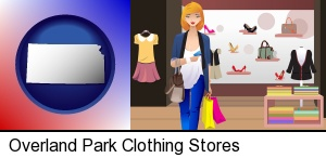 Overland Park, Kansas - a woman shopping in a clothing store